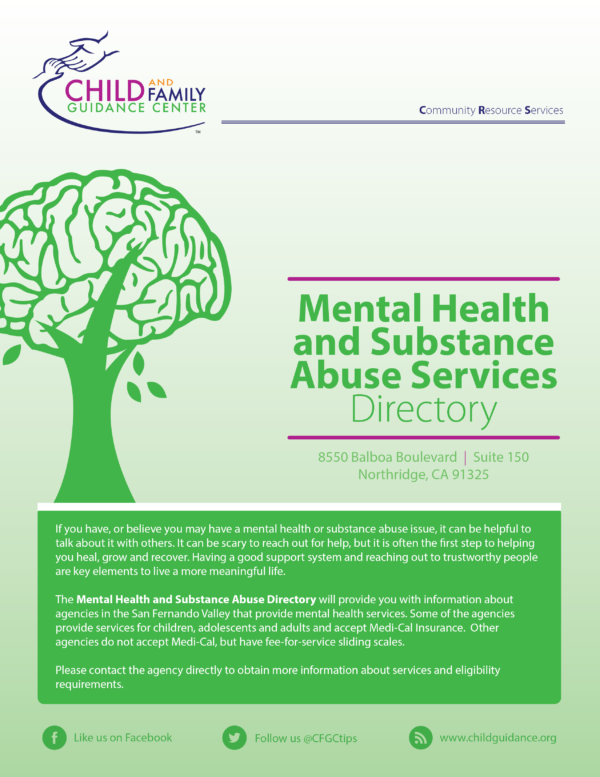 Cover of the CFGC Mental Health and Substance Abuse directory