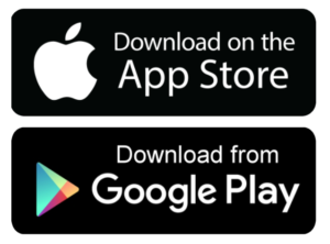 Download the app on the Google Play store or App Store buttons
