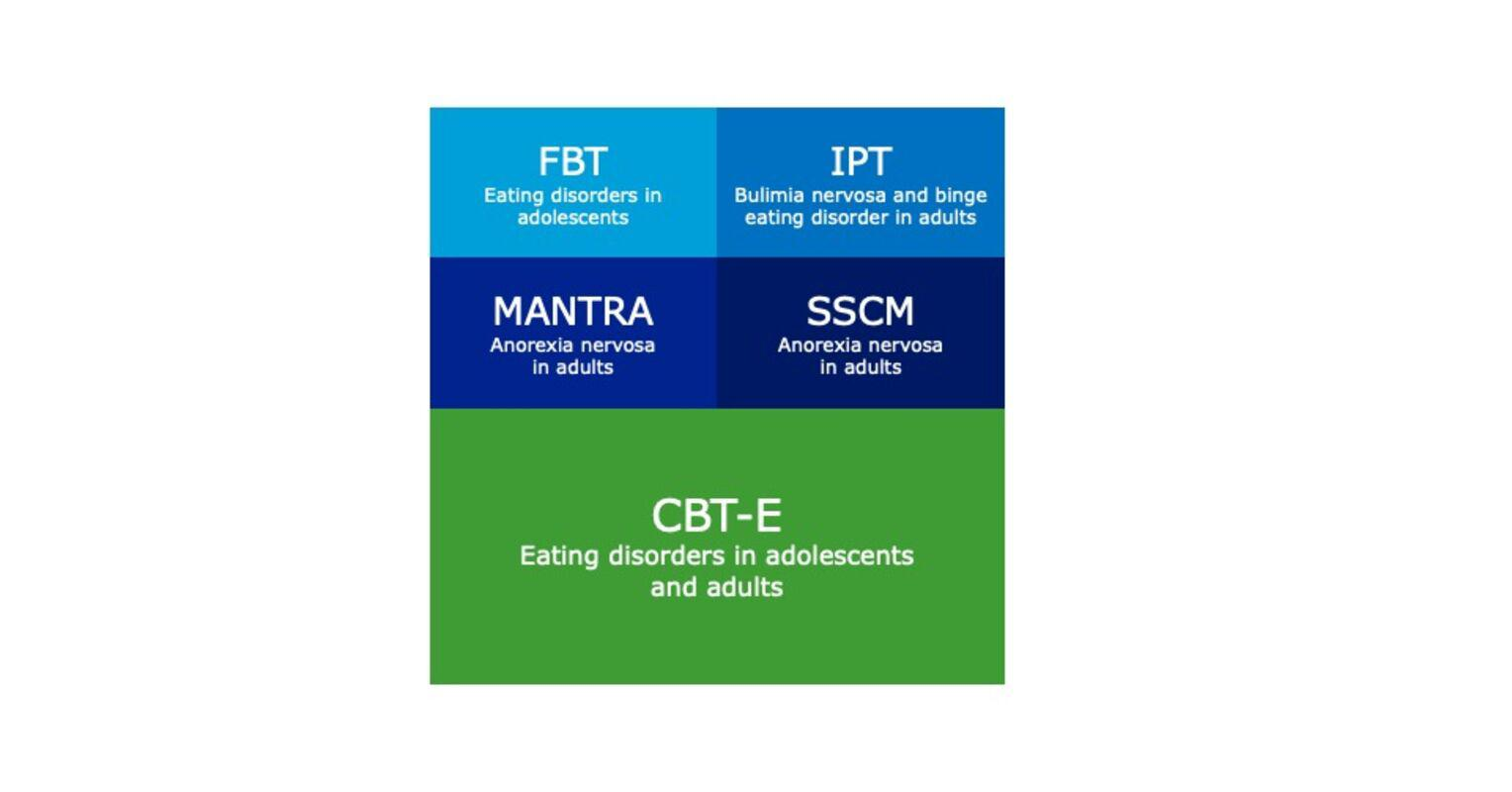 Treatment of eating disorders in adults and adolescents